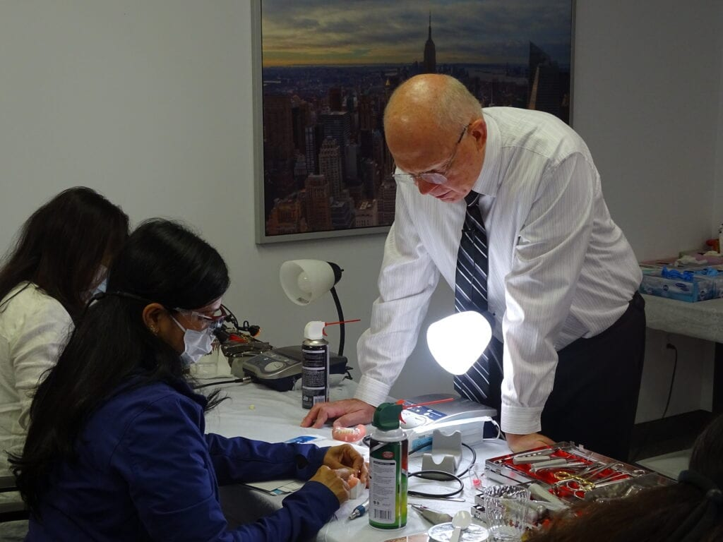 Dr. Koerner guides attendees during the hands-on portion